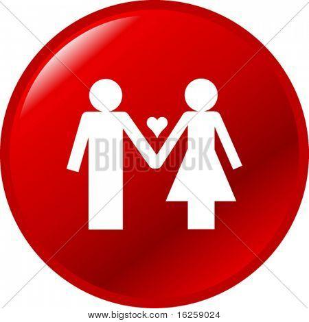 botón de par de amor