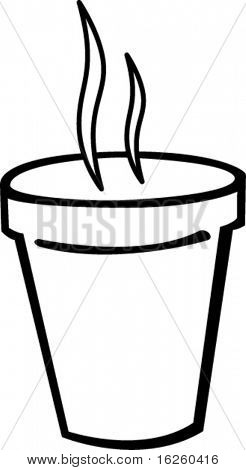 styrofoam cup with hot beverage