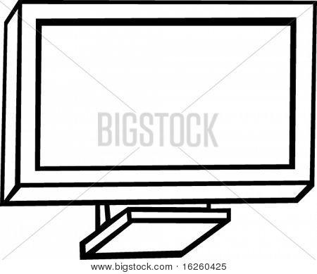 modern plasma or lcd television