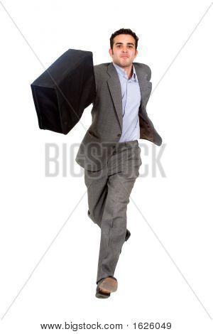 Business Man Running For Success