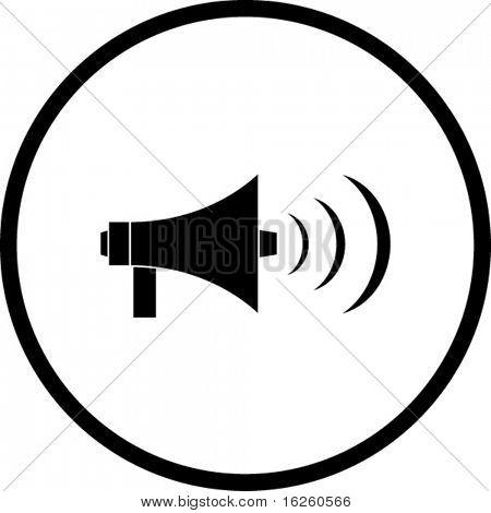 símbolo del megáfono eléctrico