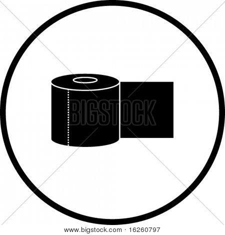 símbolo de rollo de papel de baño