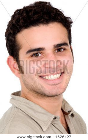 Casual Man Portrait - Smiling
