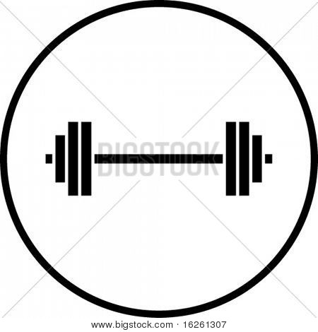 gym weights symbol
