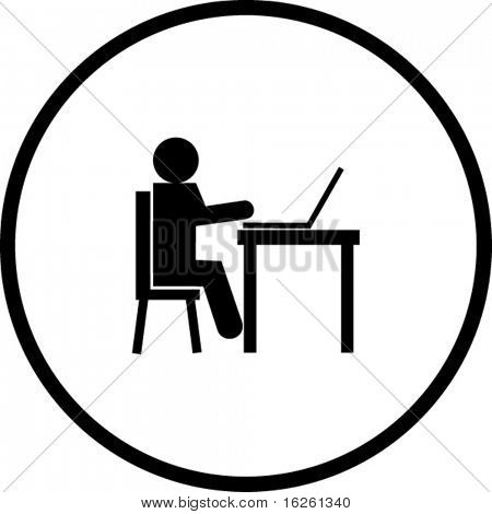 typing in a laptop symbol