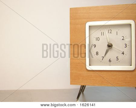 Wooden Clock With Room For Copy