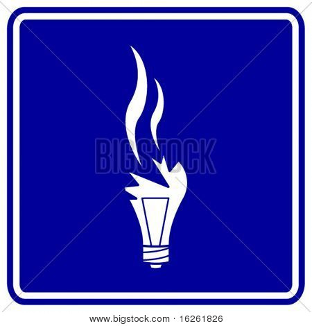 broken bulb sign
