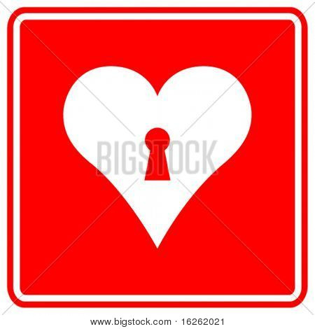 heart with keyhole sign