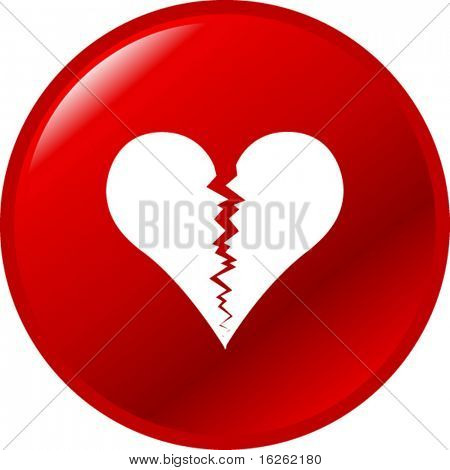 broken heart button