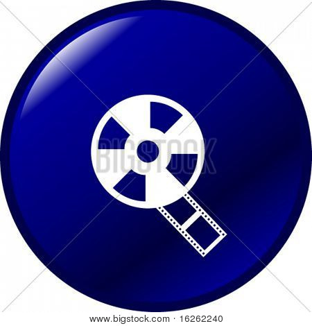 botón de carrete de película