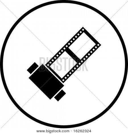 símbolo de rollo de película