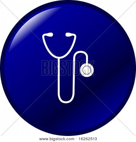 medical stethoscope button