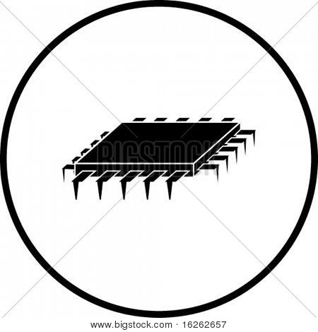 microprocessor chip symbol