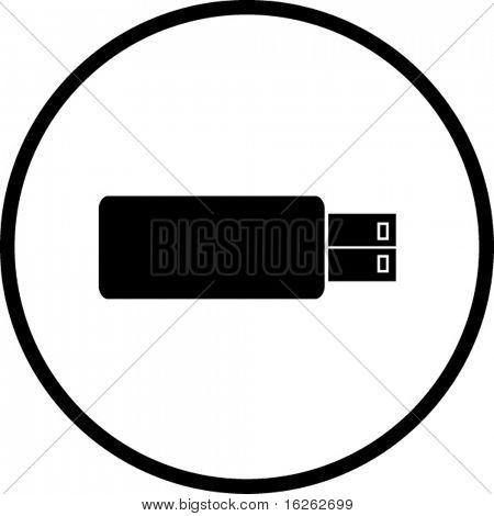 usb flash storage device symbol