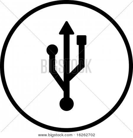 símbolo de USB