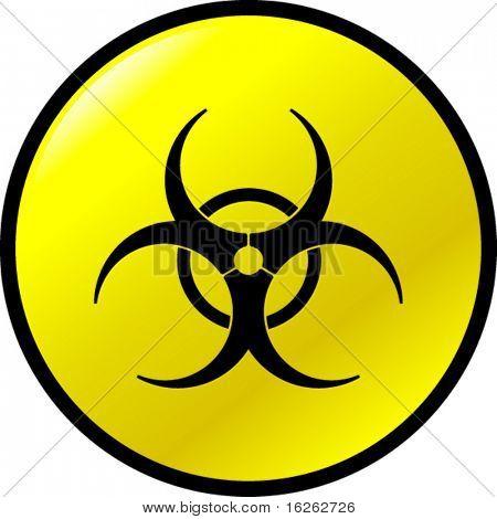 Biohazard-Schaltfläche