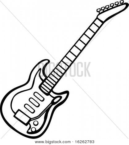 Clipart Of Bass Guitar Outline Simple Drawing Of A Guitar Guitar