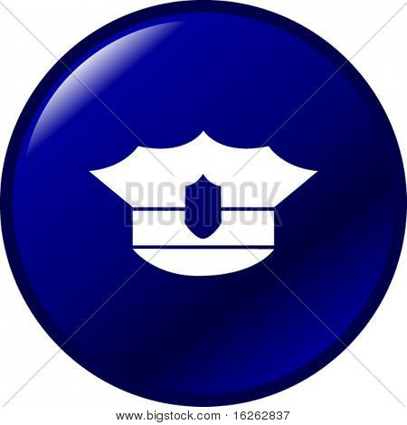police hat button