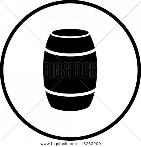 símbolo de contenedor de barril