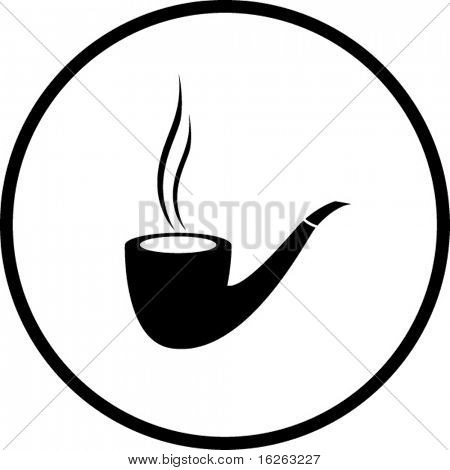 smoking pipe symbol