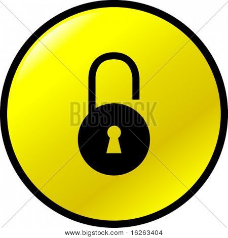open padlock button