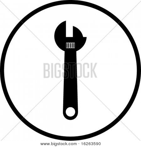 adjustable wrench symbol