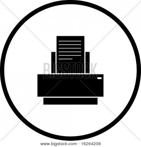 símbolo de la impresora