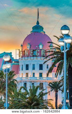 Hotel Negresco In Nice France