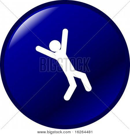 falling down button