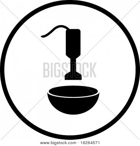 hand blender and bowl mixing symbol