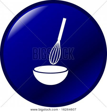 whisk and bowl mixing button