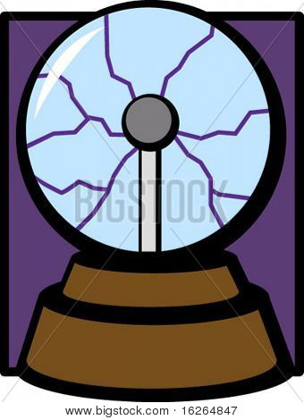 lightning electricity glass ball