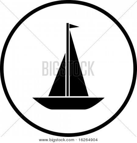 帆船符号 库存矢量图和库存照片