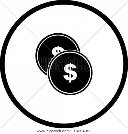 money coins or tokens symbol