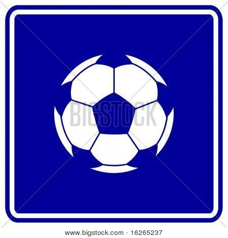 soccer ball sign