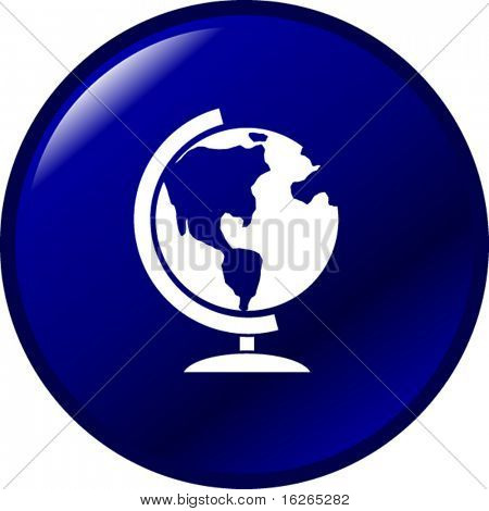 botón de globo de tierra