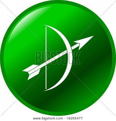 botón de tiro con arco