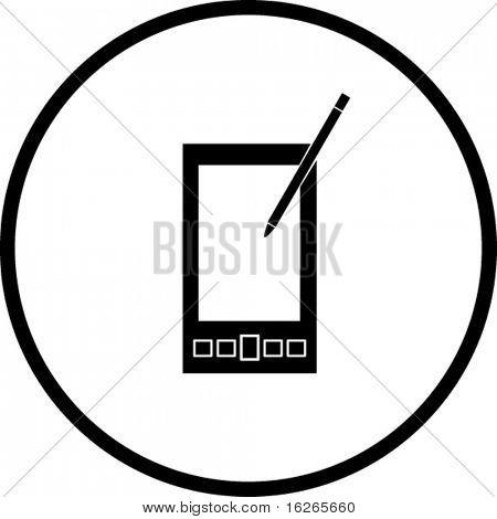 pda handheld computer symbol