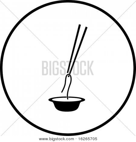 chinese noodles and chopsticks symbol