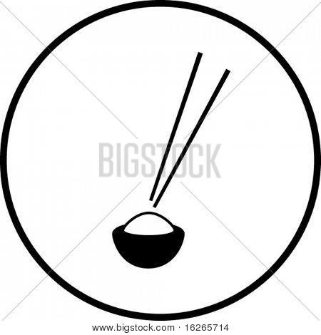 Chinesisches Essen und Stäbchen-symbol