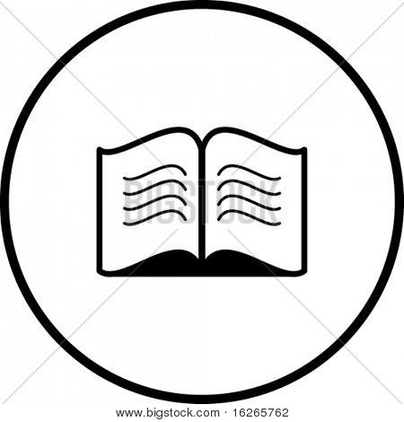 símbolo de libro abierto