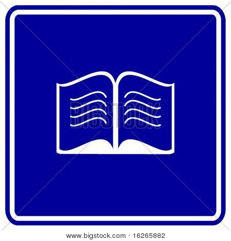 open book sign