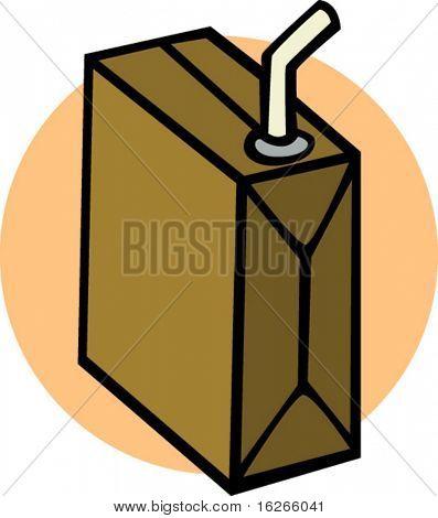 bebidas en una caja con un paja
