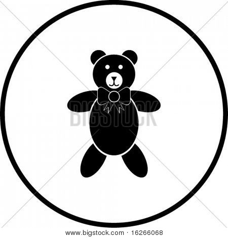 plush bear toy symbol