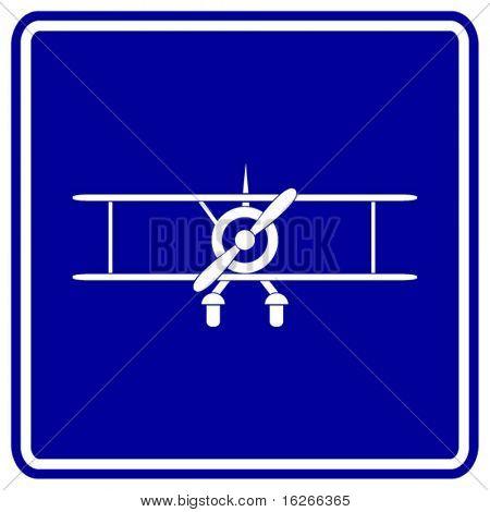 biplane sign