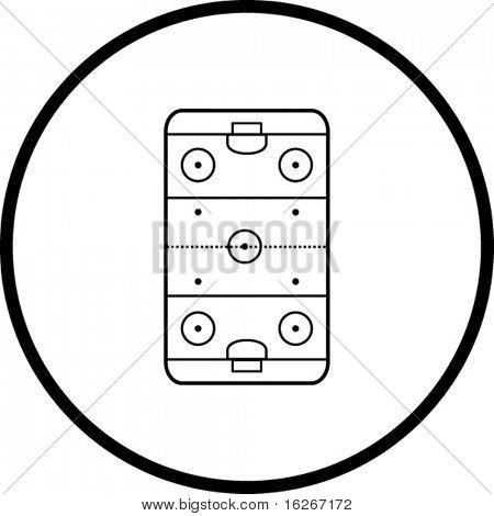 ice hockey rink symbol