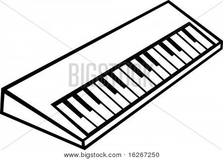 electronic musical synthesizer keyboard