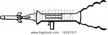 bazooka firing a rocket