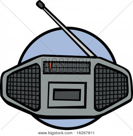 stereo radio and tape player