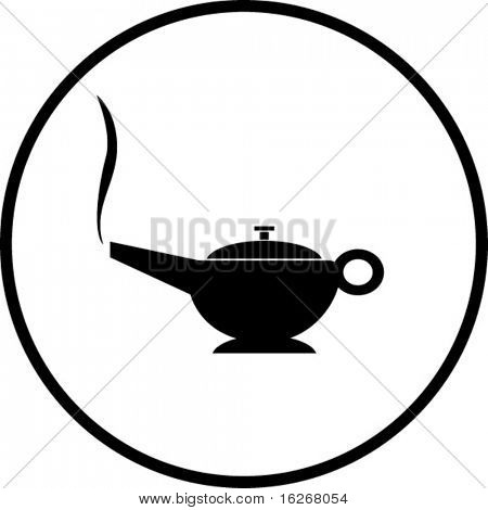 magic lamp symbol